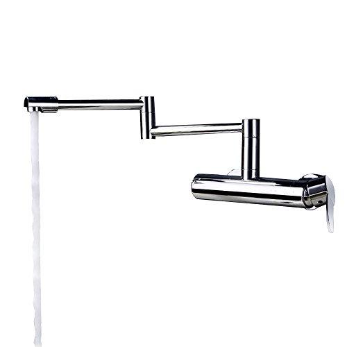 JinYuZe Wall Mounted Pot Filler Faucet,Swing Arm 1-Handle Kitchen Sink -