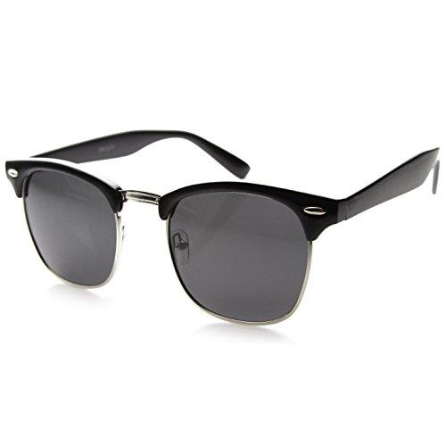 ZeroUV Designer Inspired Classic Half Frame Horned Rim Sunglasses