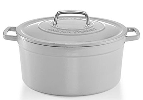 Enameled Cast Iron Collection - Martha Stewart Collection Collectors Enameled Cast Iron 8 Qt. Round Casserole (oyster)