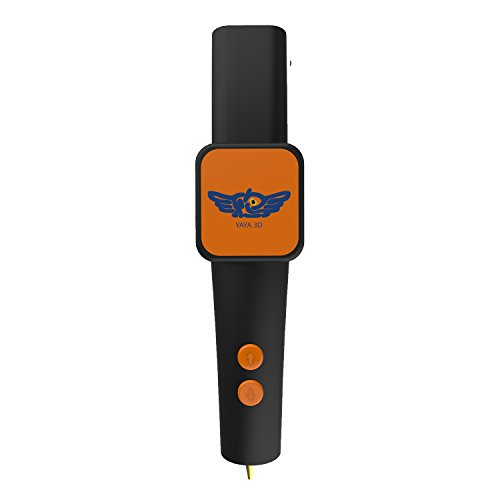 YAYA3D 3D Printing Doodle V1.5 Printer Pen with 2.2 oz ABS 1.75mm Filament, Black/Orange by YAYA 3D