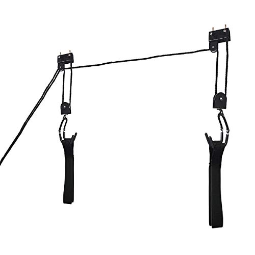 Vertical Hoist - USA_BEST_SELLER Bicycle Garage Storage Lift Kayak Hoist Hanger Rack Vertical Bikes Hoist Hook Clip