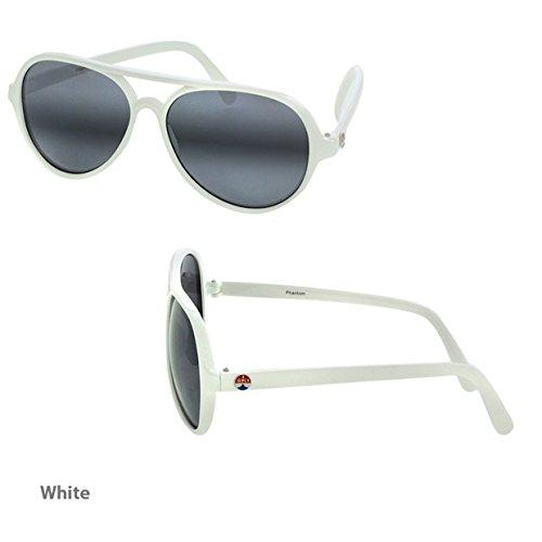 I Ski Phantom Aviator Sunglasses - White Frame/Smoke & Silver Lens,One - Ski Sunglasses I