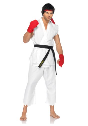 Leg Avenue Mens Street Fighter Ryu Edition Theme Party Fancy Dress Costume, Medium (38-40)