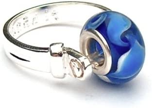 Amazon Com Divine Beads Stylish Silver Plated Bead It Ring Us