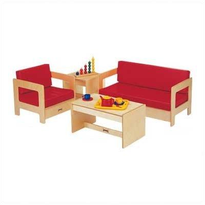 Jonti-Craft 0380TK Living Room 4 Piece Set - Red - ThriftyKYDZ
