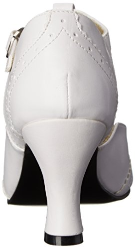 Pleaser Ladies Flapper 26 T-clasp Bianco (wht Pu)