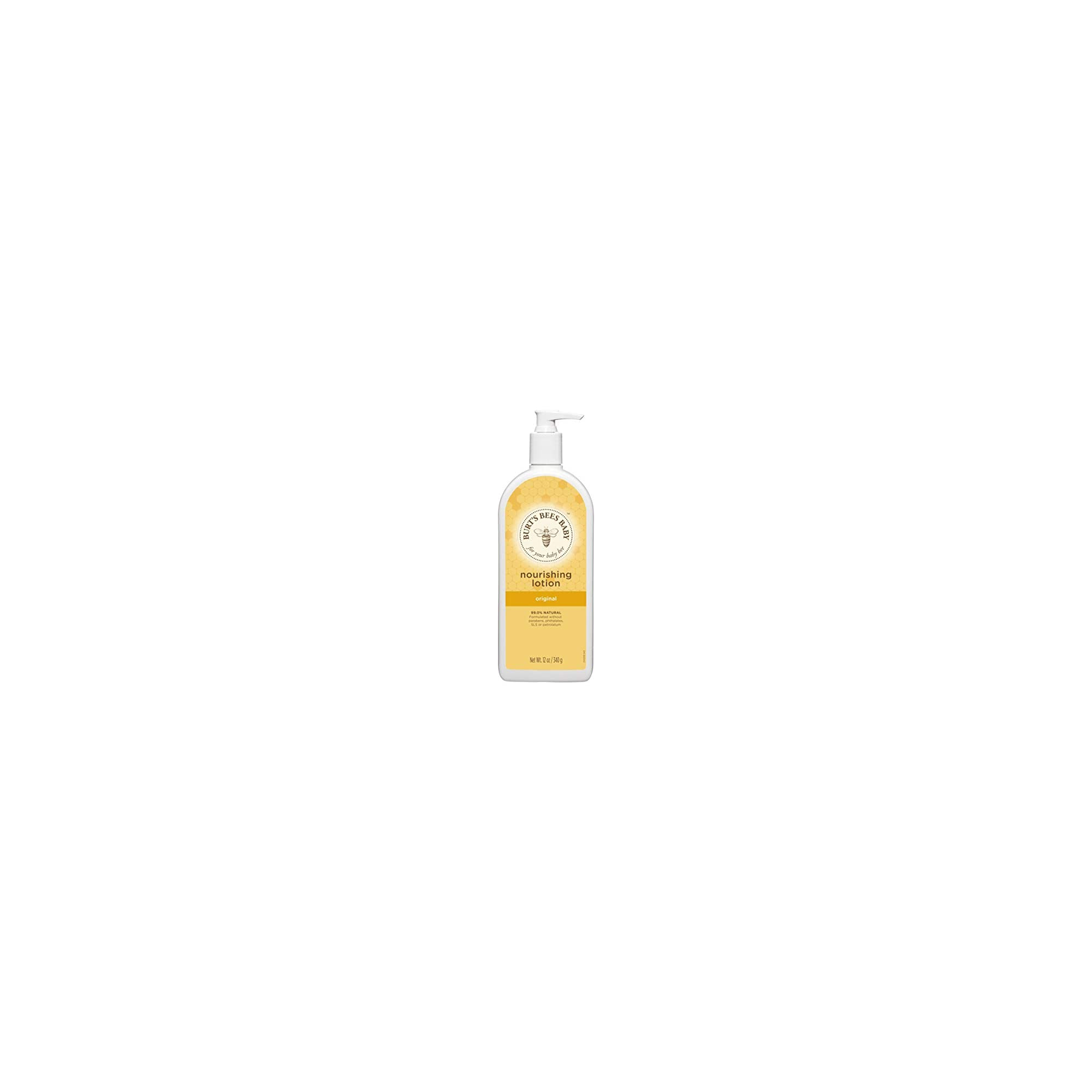 Burt's Bees Baby Nourishing Lotion,  Original Scent Baby Lotion – 12 Ounce Tube