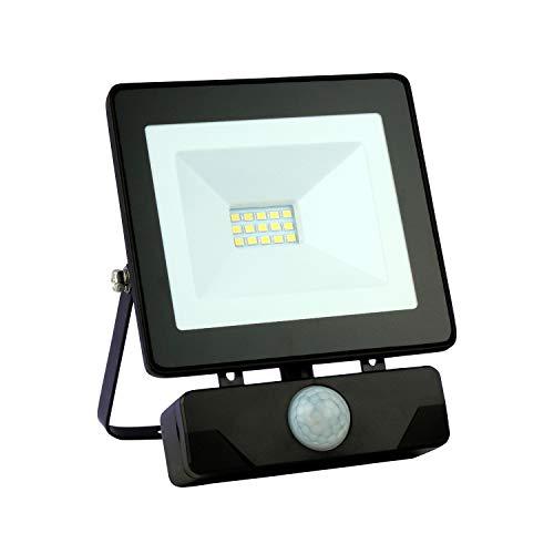 Emos LED Strahler Flutlicht 10 Watt (10W) / 800 Lumen Scheinwerfer Außenstrahler neutralweiß (4000k) mit Bewegungsmelder…