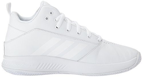 adidas CF Men's Ilation Basketball Shoe 0 White White White 2 4E q1PqaxH