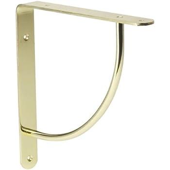 lido designs lb028154 polished brass clear coat lido euro shelf bracket