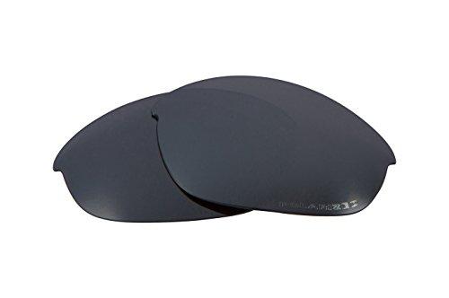Best SEEK OPTICS Replacement Lenses Oakley HALF JACKET 2.0 - Polarized Black - Half Iridium Lenses Black Oakley Jacket Polarized