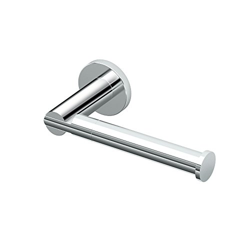 Polished Chrome Euro Tissue Holder (Gatco 4683 Channel Toilet Tissue Holder, Chrome)