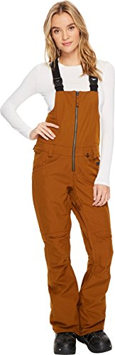 Volcom Snow Women's Verdi Bib Overalls Copper Medium by Volcom