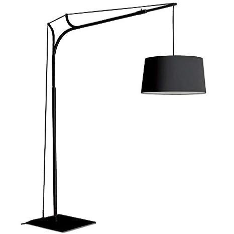TINA - Lámpara de pie Arco negro, 220 cm de altura - Lámpara de ...