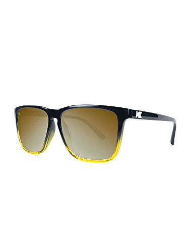 5ae607c97bd Galleon - Knockaround Fast Lanes Non-Polarized Sunglasses (Glossy Black And  Amber Ice Gold)