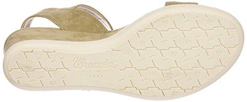 Wrangler Iris Stripes - Sandalias Mujer Beige - Beige (23  Beige)