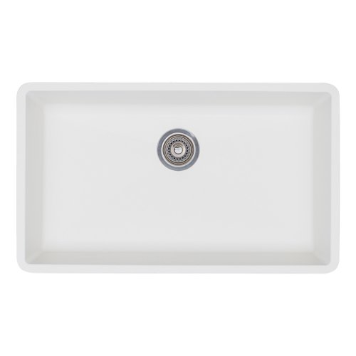 Blanco 440150 Precis Super Single Bowl-White Sink, 32