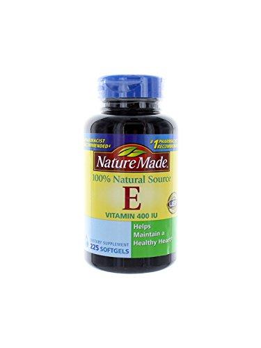Nature Made vitamine E naturelle 400 UI - 2 bouteilles, 225 gélules Chaque