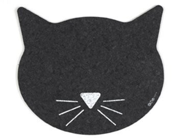 ORE Pet Recycled Rubber Cat Face Placemat by ORE Pet
