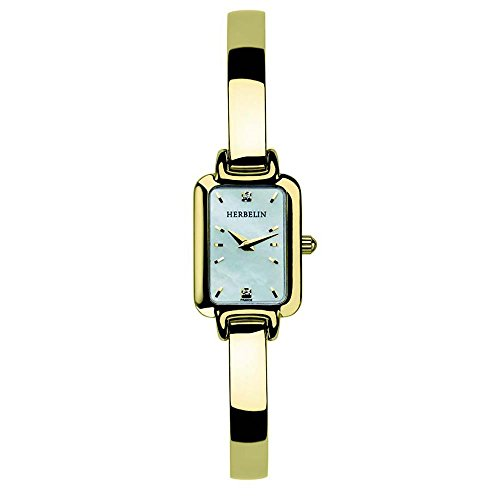 Michel Herbelin Salambo Ladies Stainless Steel Crystal Set Bangle Watch. Ref: 17404.BP59