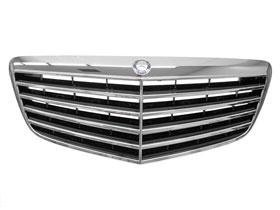 Mercedes w211 front radiator Grille Assembly BLACK + CHROME