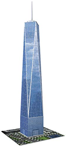 Ravensburger One World Trade Center NY 216 Piece 3D Jigsaw Puzzle for Kids and Adults - Easy Click Technology Means Pieces Fit Together Perfectly