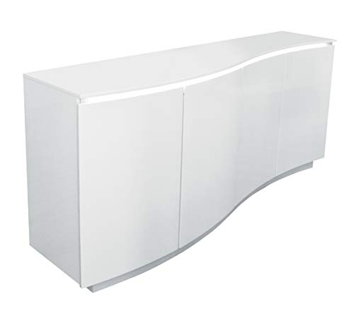 Eagle Furniture FA-1003 White Lacquer Buffet with 4 Self Closing Doors - 35 x 79 x 20 in. (Lacquer Sideboard White Buffet)