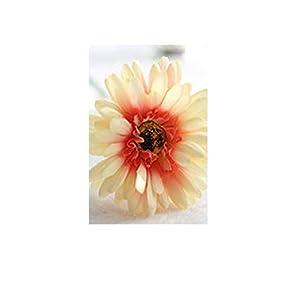 8PCS Artificial Flowers Plants Gerbera Fake Leaf Sun Flower Wedding Decoration Home Decor Party Decorative Silk Flowers,L 106