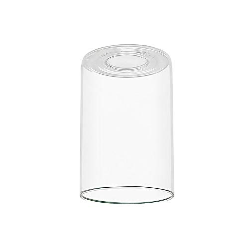 TENGXIN Out Replacement Cylinder Clear Glass Shade for Bathroom Vanity Lamo,Indoor Wall Light,Mirorr Front Lamp Series,4.72/5.90 Inch Fitter 1-Pack ()