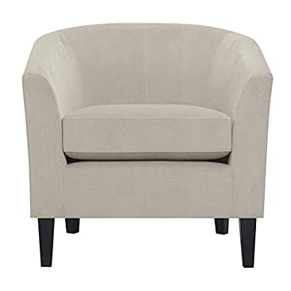 Awe Inspiring Amazon Com Pemberly Row Kate Modern Taupe Accent Chair With Bralicious Painted Fabric Chair Ideas Braliciousco