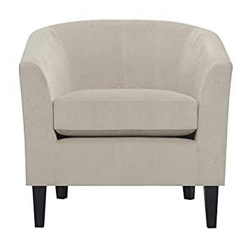 Taupe Accent Chairs.Amazon Com Pemberly Row Kate Modern Taupe Accent Chair With Barrel