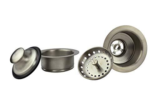 Keeney K5475DSBN Sink Strainer and Garbage Disposal Flange Kit, Brushed Nickel (Kitchen Sink Won T Drain Garbage Disposal)