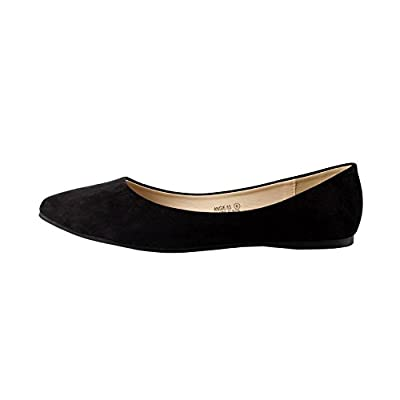 Bella Marie Angie-52 Women's Classic Pointy Toe Ballet Slip On Flats Shoes
