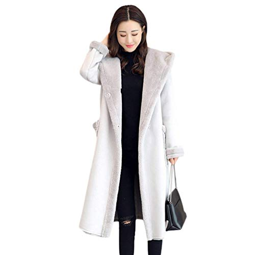 Femme Parka Longues Elgante paissir Warm Hiver Manteau  Capuchon Young Styles Outdoor Fashion Loisir Long Manches Parker Manteau De Transition De Bonne Qualit Grau