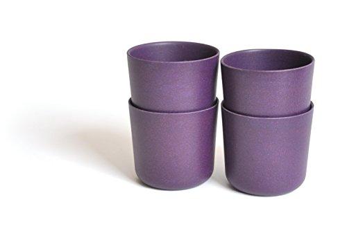 Biobu [by Ekobo] 8 oz Bambino Cup Set - Dishware Sets Purple