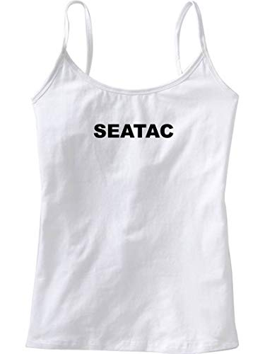SEATAC - City Series - White Women's/Girls Camisole (Girlie/Babydoll) - size Small]()