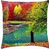 Small pond in autumn - Throw Pillow Cover Case (18