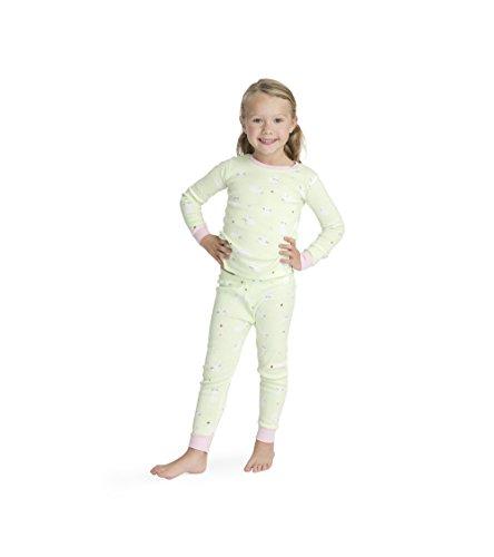 (Hatley Girls' Big' Organic Cotton Long Sleeve Printed Pajama Sets, Thumping Bunnies, 10 Years)