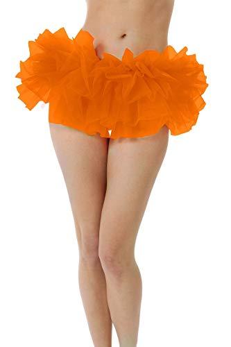 BellaSous Adult Poofy Tutu for Holiday Costume, Princess Tutu, Ballet Tutu, Dance Outfit, or Fun Run Orange ()
