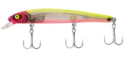 (Bomber Saltwater Grade Heavy Duty Long A - Silver Flash/Pink/Chartreuse)