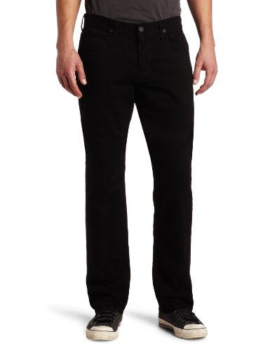 Five Pocket Lightweight Jeans (Hudson Jeans Men's Byron 5 Pocket Straight Leg Twill Pant, Jet Black, 30)