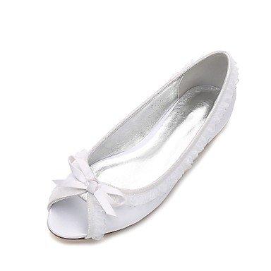 RTRY Las Mujeres'S Wedding Shoes Confort Satin Primavera Verano Boda Vestido De Noche &Amp; Rhinestone Bowknot Champán Heelivory Plana Marfil Rubí Azul Us8.5 / Ue39 / Uk6.5 / Cn40 Ivory|US8.5 / EU39 / UK6.5 / CN40