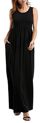long black maxi dress cotton - 4