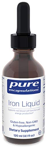 Pure Encapsulations – Iron Liquid – Hypoallergenic Supplement Supports Hemoglobin and Myoglobin Function* – 120 ml. For Sale