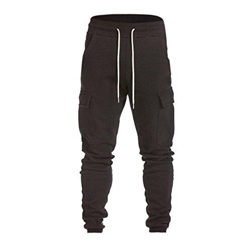 MODOQO Men's Cargo Pants Casual Loose Fit Flat Front Sweatpants Gyms Work Trousers