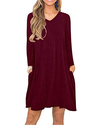 MISFAY Women's Summer Spaghetti Strap Casual Swing Tank Beach Cover Up Dress with Pockets