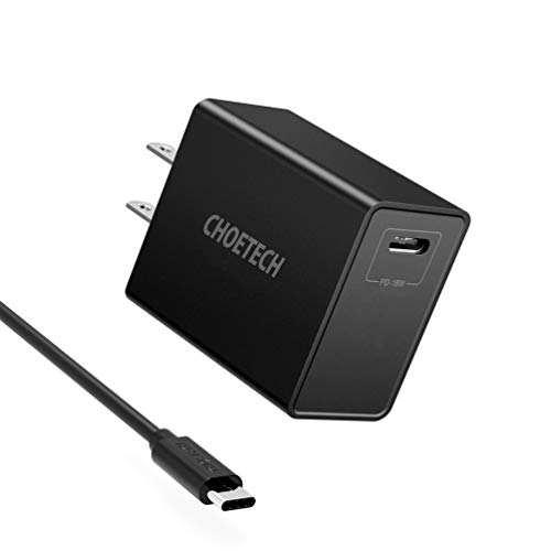 CHOETECH USB C Charger, 18W USBC Charger with Power Delivery Compact Travel Charger Compatible with iPad Pro, iPhone 11/11 Pro/11 Pro Max/X/XS/XS Max, Samsung Galaxy Note 10+/10/S10, Google Pixel 3