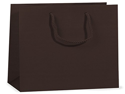 Chocolate Matte Vogue Gift Bags 100 16x6x12'' (Unit Pack - 100)