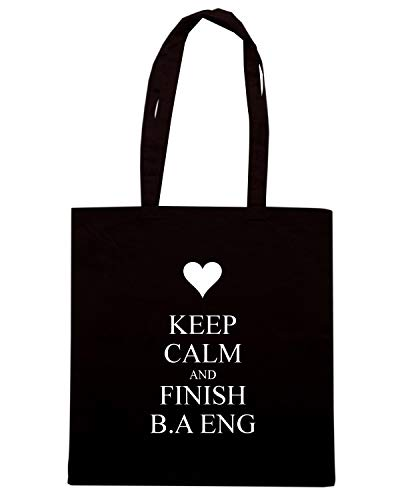 B KEEP AND ENG Shopper Shirt Borsa TKC2934 FINISH Speed A CALM Nera wPq1zxHHX