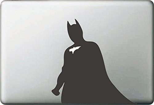 Vati Leaves Removable Creative Cool Batman Decal Sticker Skin Art Black for Apple Macbook Pro Air Mac 13